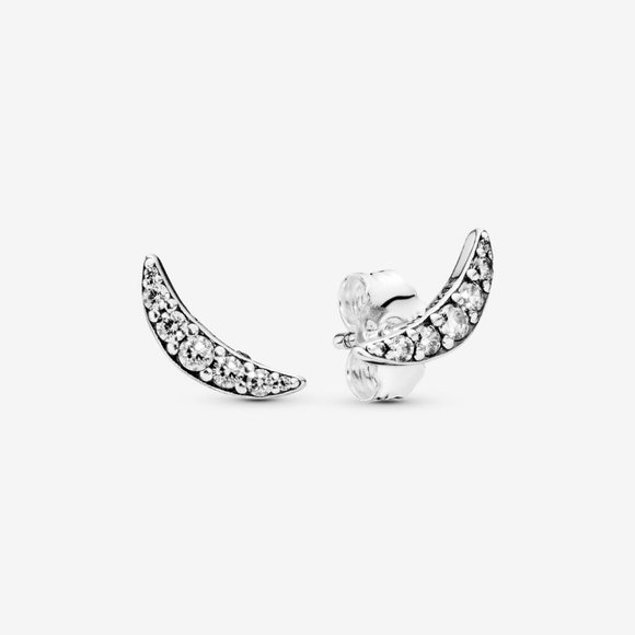 Pandora Jewelry - Pandora Sparkling Crescent Moon Earrings
